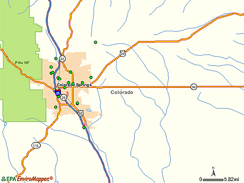 Colorado Springs Area EPA Cleanup Sites