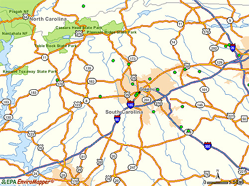 Greenville Area EPA Cleanup Sites